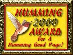 Humming Bird Award
